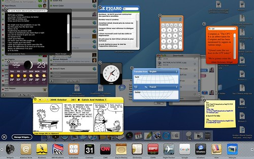 Dashboard widgets and iChat w/Jabber