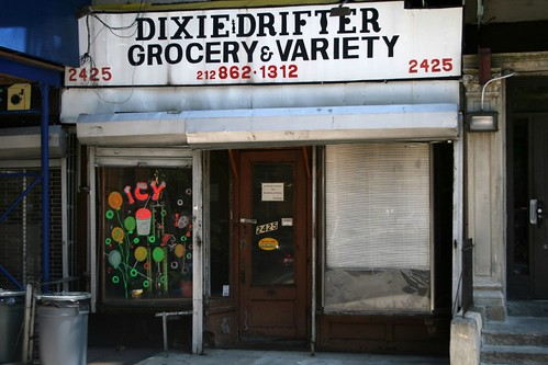 The former Dixie Drifter Grocery & Variety, Adam Clayton Powell Junior Boulevard, Manhattan | by Eating In Translation