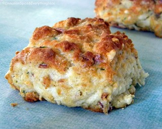 Bacon, Cheddar and Chive Biscuits | by CinnamonKitchn