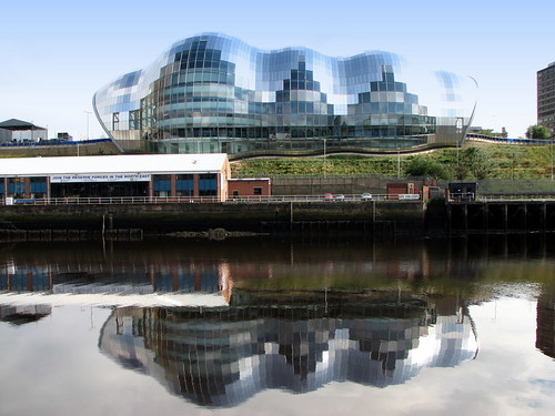 The Sage Gateshead and reflection in the Tyne - Newcastle Gateshead Quayside | by Glen Bowman