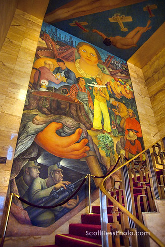 10 oct 7117 72 diego rivera mural in the city club san for Diego rivera mural san francisco
