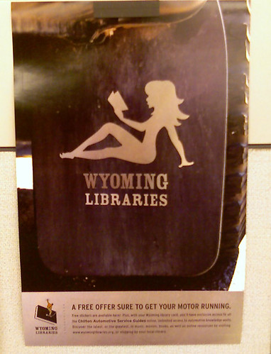 mudflap girl poster on my cubicle | by WyoLibrarian