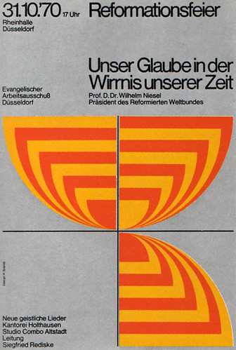 1970's Advertising - Poster - Dusseldorf Religious Meeting 1of2 (Germany) | by ChowKaiDeng