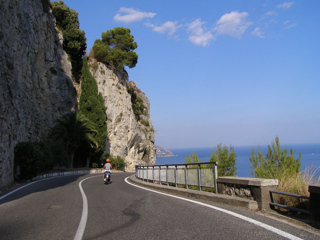 Amalfi coast motor cycling