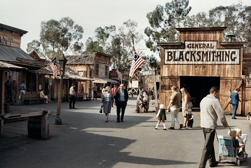 Main St., Ghost Town, Knott's Berry Farm, 1967 | by Orange County Archives