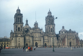 Metropolitan Cathedral, Zocalo, Mexico City, December 1958 | by lreed76