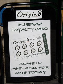 Sign at Origin8 cafe, Cambridge | by Kake .