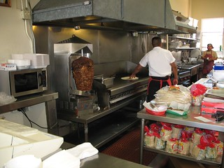 Al Pastor spit in Taqueria San Jose kitchen | by Gary Soup