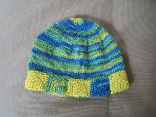 baby mitered hat | by omlycrafts