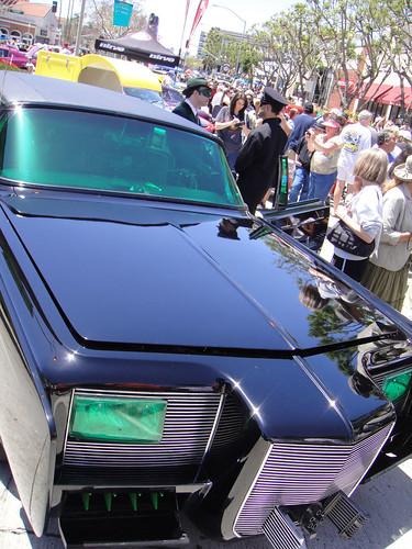 Culver City Car Show - classic Green Hornet car, Black Bea ...