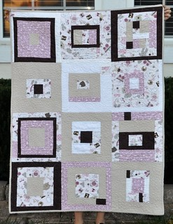 charity quilt lavender and brown | by vickivictoria