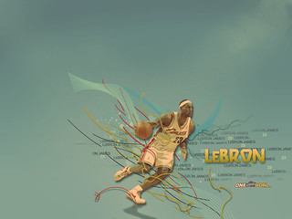 2008-2009 Wallpaper LeBron | by Cavs History
