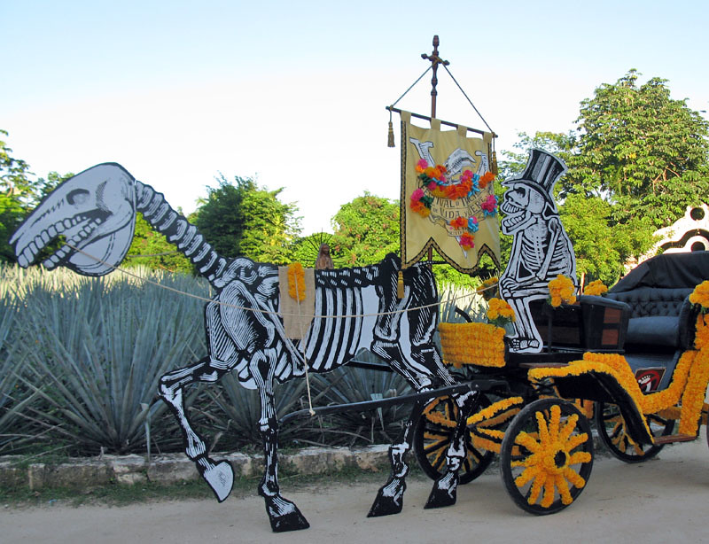 Day of the Dead Carriage -Skeleton on carriage