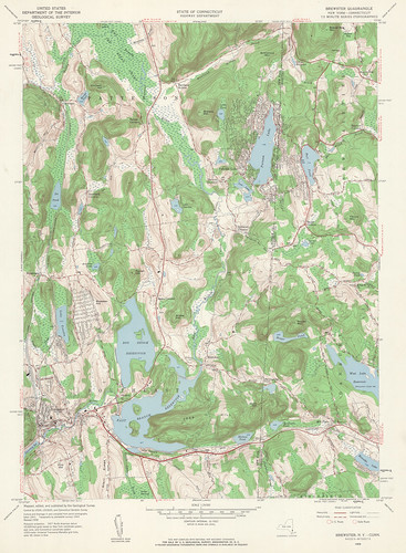 Brewster Quadrangle 1958 - USGS Topographic 1:24,000 | by uconnlibrariesmagic
