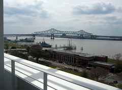 A small sliver of downtown Baton Rouge and the Mississippi River from Tsunami restaurant | by aislingeach