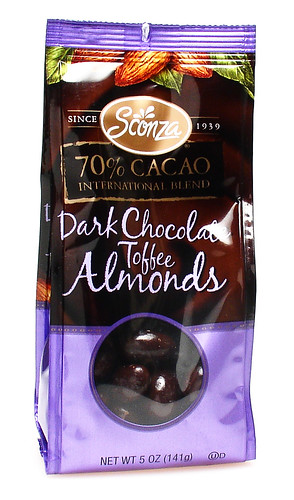Sconza 70% Dark Chocolate Toffee Almonds | by cybele-