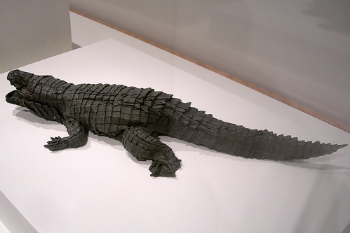 Origami alligator, by Michael LaFosse and Richard Alexander | by Philocrites