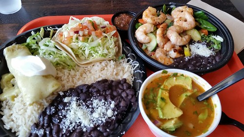 Taco & Enchilada Plate, Shrimp Bowl, Tortilla Soup