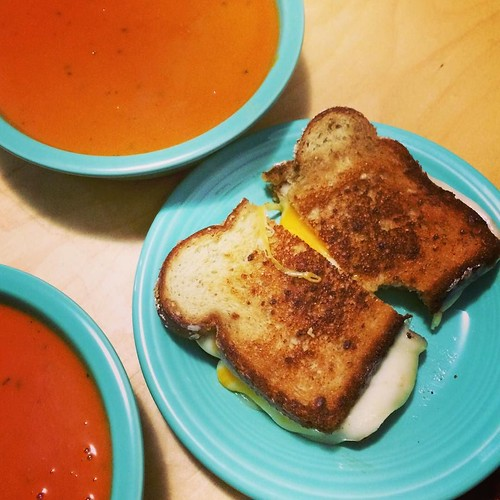 grilled Cheddar and Monterey Jack with roasted red pepper and tomato ...