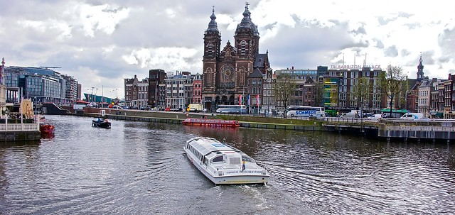 Amsterdam canal ferry