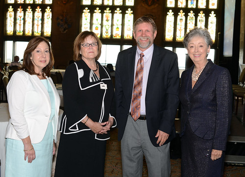 From left to right—Laurie Kramer, Dr. Barbara Fiese, Dr. Robert Hauser, and Doris Kelley Christopher