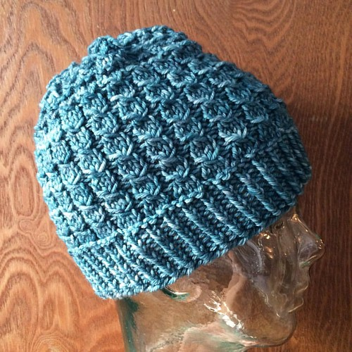 Another view of Petal Showers hat. #texture #knit