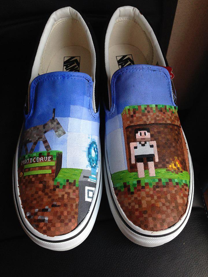 Custom shoe art by Danny P - Minecraft