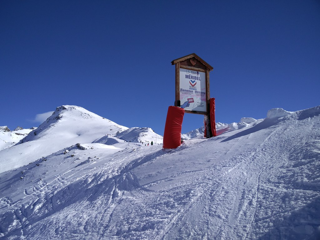 Entering Meribel