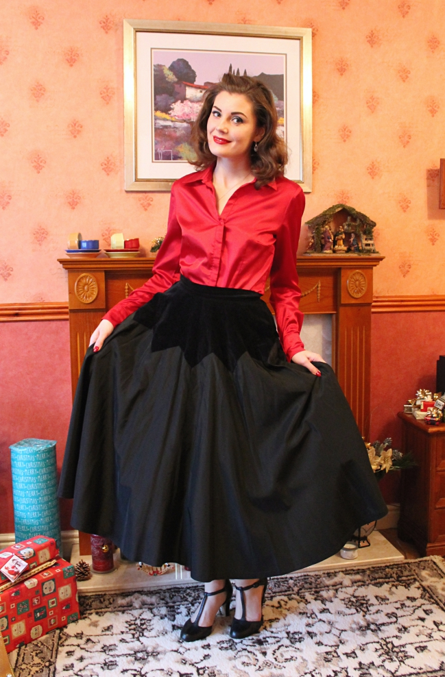 Taffeta and Red Satin