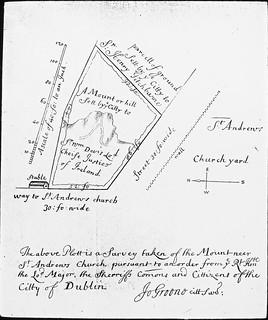 Dublin hand drawn survey, St. Andrew's Church