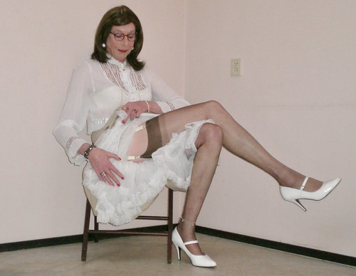 Transvestites wearing fully fashioned stockings