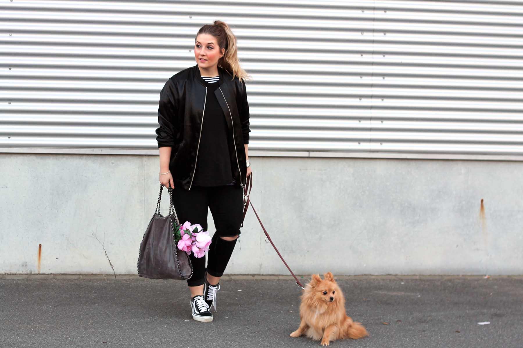 modeblog-fashionblog-outfit-look-bomberjacke-schwarz-vans-sneaker