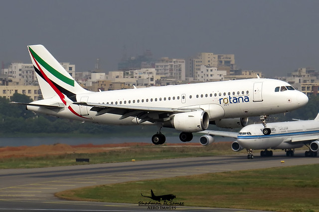 A6-RRC: Rotana Jet Aviation's A319 keeping KU 9K-AND on hold