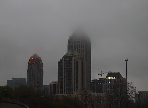 Fog over downtown