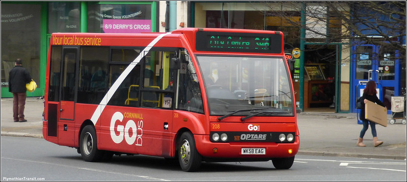 Plymouth Citybus 208 WK58EAG