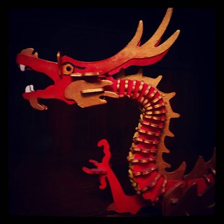 Red chinese dragon, painted long ago by me, for #365days project, 115/365