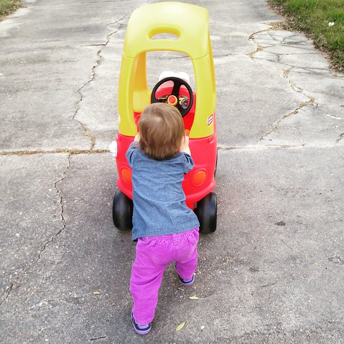 Getting back to normal posting... Playing outside with our car.