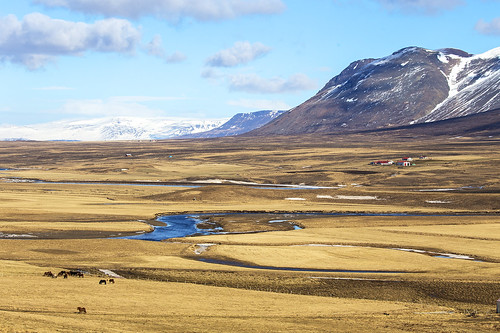 Fields and mountains, Western Iceland