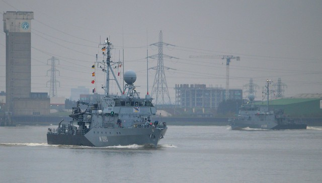 German Navy Minesweepers @ Gallions Reach 15-04-16