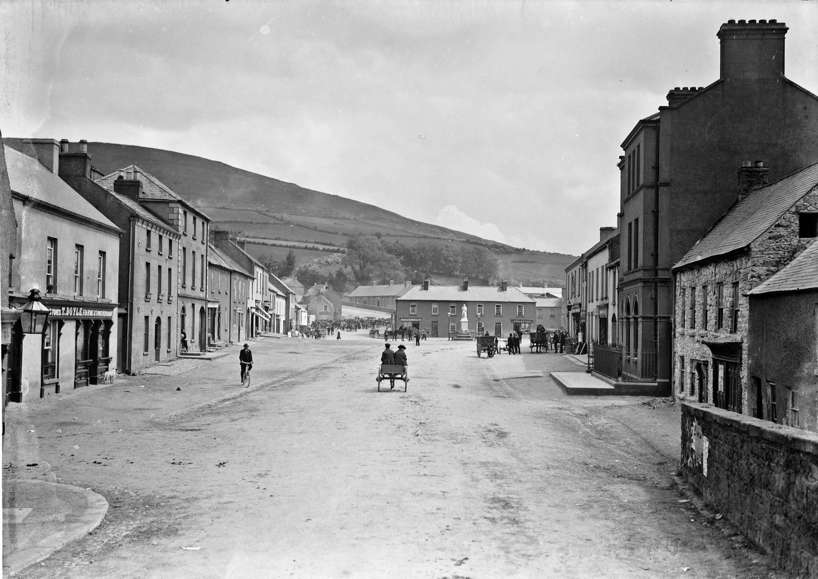 The Square, Baltinglass, Co. Wicklow | by National Library of Ireland on The Commons