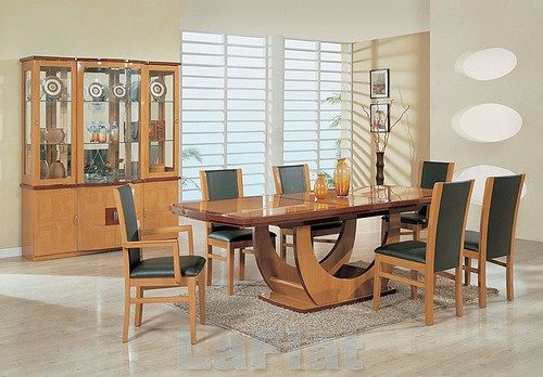 Dining room wooden kitchen wallpapers interior design for Kitchen dining room wallpaper