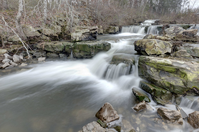 Upper Obed Falls, Obed River, Cumberland County, Tennessee