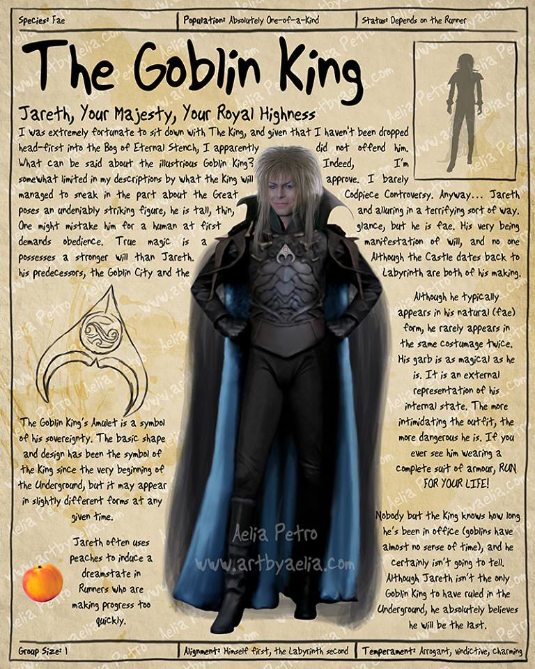 Practical Visitor's Guide to the Labyrinth by Aelia Petro - Jareth The Goblin King