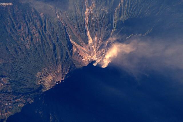 Morning sun volcanoes