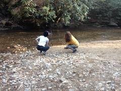 Skipping Rocks at Sea Creek Falls