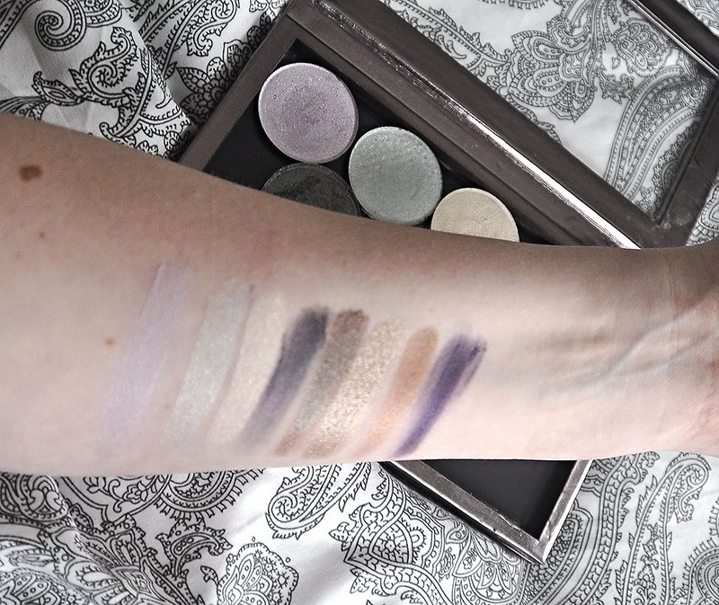 Phee's make up shop swatches shadows and highlight