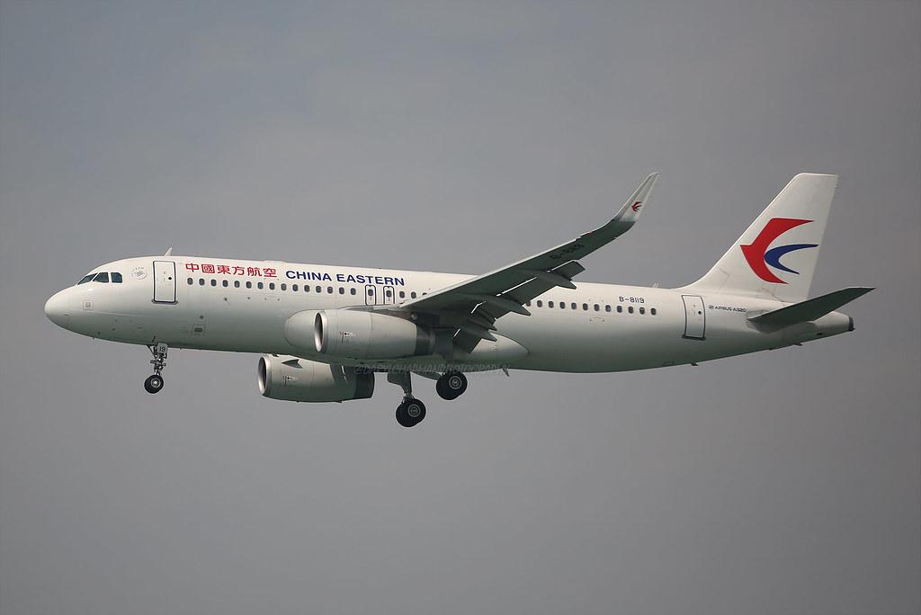 """Airbus, A320-232, B-8119, """"China Eastern"""", VHHH, Hong Kong"""