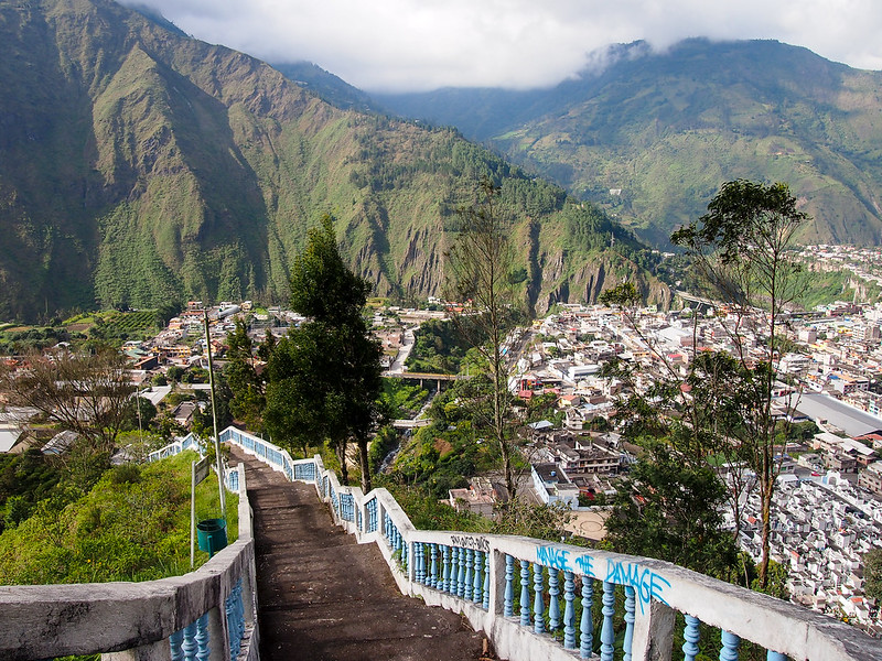 Hiking to the Virgin Mary statue in Banos, Ecuador