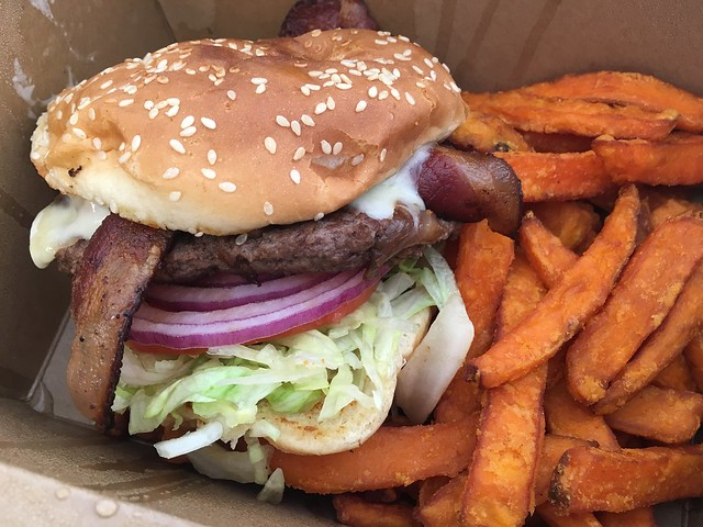 Lori's signature burger - Lori's Diner