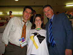 With Steve Levy and Barry Melrose.jpg | by Julie Rubes